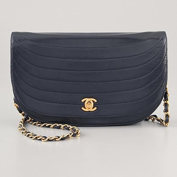 80fd1a515422cb CHANEL Bags | Vintage Lambskin Half Moon Flap Bag | Poshmark
